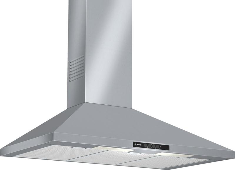 Bosch DWW09W450 nerez komínový odsavač par, 90 cm střecha