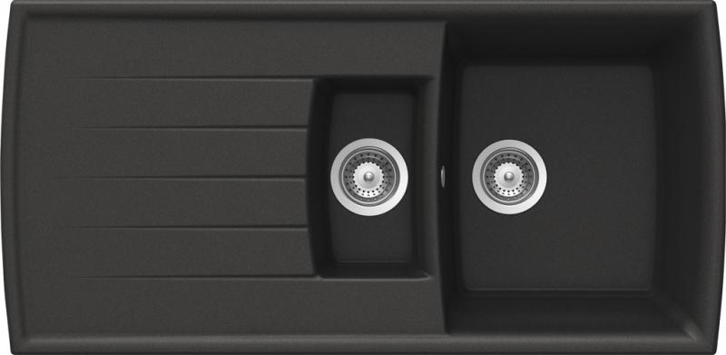 Schock Lotus D-150 CRISTADUR Carbonium granitový dřez horní montáž