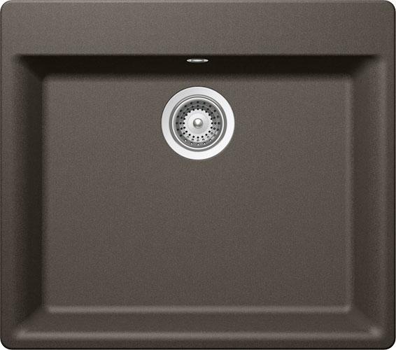 Schock Mono N-100L CRISTADUR Carbonium granitový dřez horní montáž