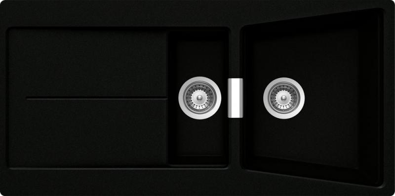Schock Opus D-150 CRISTADUR Puro granitový dřez do roviny