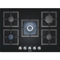 Bosch PPQ716B21E vestavná plynová deska 70 cm tvrzené sklo černá