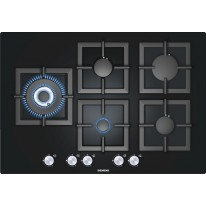 Siemens EP816SB21E plynová deska, 75 cm, tvrzené sklo, černá