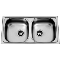 Set Sinks Sinks OKIO 780 DUO M 0,5mm matný + Sinks VENTO 55 lesklá