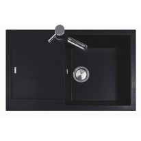 Set Sinks Sinks AMANDA 780 Metalblack + Sinks MIX 350 P lesklá