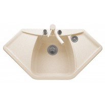 Set Sinks Sinks NAIKY 980 Avena + Sinks MIX 350 P lesklá