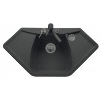 Set Sinks Sinks NAIKY 980 Granblack + Sinks MIX 350 P lesklá