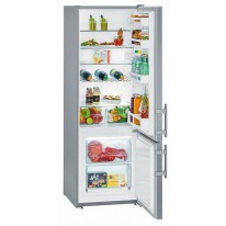 Liebherr CUef 2811 kombinovaná chladnička, SmartSteel + Akce 5 let záruka zdarma