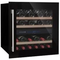 Avintage AV60CDZ vestavná vinotéka dvouzónová, 36 lahví, černá