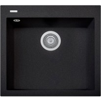 Set Sinks CUBE 560 Metalblack+CAPRI 4 GR
