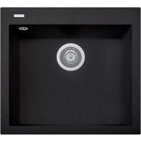 Set Sinks CUBE 560 Metalblack+CAPRI 4 GR