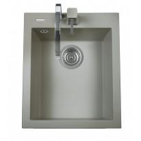 Set Sinks Sinks CUBE 410 Titanium + Sinks CAPRI 4 S - 72 Titanium
