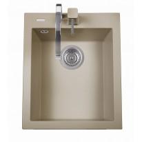 Set Sinks CUBE 410 Truffle+CAPRI 4S GR