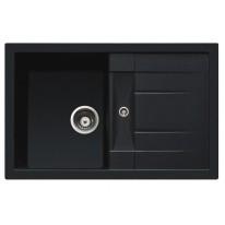 Set Sinks CRYSTAL 780 Metalblack+CAPRI 4 GR