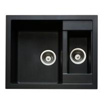 Set Sinks CRYSTAL 615.1 Metalblack+MIX 350P