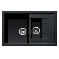 Set Sinks CRYSTAL 780.1 Metalblack+MIX 3P GR