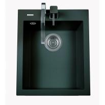 Set Sinks CUBE 410 Metalblack+CAPRI 4 GR