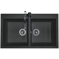 Set Sinks AMANDA 860 DUO Metalblack+MIX 3P GR