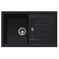 Set Sinks CRYSTAL 780 Metalblack+CAPRI 4S GR