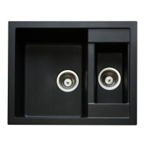 Set Sinks CRYSTAL 615.1 Metalblack+CAPRI 4S GR