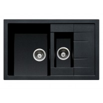Set Sinks CRYSTAL 780.1 Metalblack+CAPRI 4S GR
