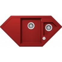 Schock Signus C-150 CRISTADUR Rouge granitový dřez horní montáž