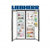 Liebherr SBSbs 8673 Americká chladnička, BioFresh, NoFrost, IceMaker, BlackSteel, A+++ + Akce 5 let záruka zdarma