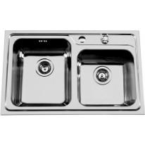 Sinks Sinks ALFA 800 DUO V 0,7mm levý texturovaný