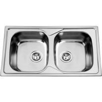 Sinks OKIO 860 DUO V 0,6mm leštěný