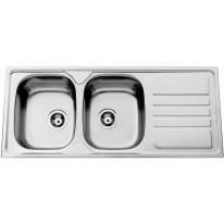 Sinks OKIO 1200 DUO V 0,7mm leštěný