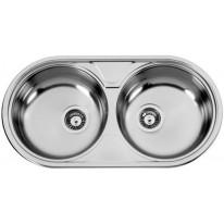 Sinks DUETO 847 V 0,6mm leštěný