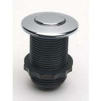 EcoMaster Samostatné pneutlačítko kulaté k drtičům odpadu EcoMaster, Lesklý chrom pokovený plast
