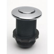 EcoMaster Samostatné pneutlačítko kulaté k drtičům odpadu EcoMaster, Matný nerez kartáčovaný plech