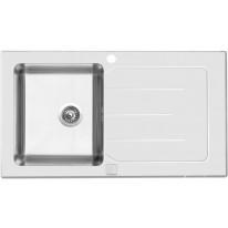 Sinks Sinks VITRUM 860 V 1mm kartáčovaný bílý