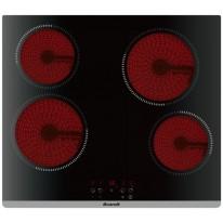 Brandt BPV6420B sklokeramická elektrická deska, černá, 60 cm, 4 roky záruka