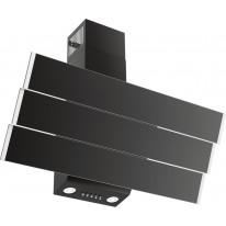 Kluge KMS9010BLG komínový odsavač par, černý/nerez, šířka 90 cm