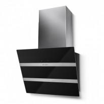 Faber STEELMAX EV8 BK/X A55  - komínový odsavač, černá / černé sklo, šířka 55cm