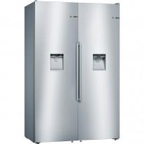 Bosch KAD95BI2P Volně stojící lednice-mrazák Side-by-side složená z KSW36BI3P, GSD36BI2V a spojovací sady KSZ39AL00, celková šíře 120 cm