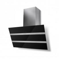 Faber STEELMAX EV8 BK/X A80  - komínový odsavač, černá / černé sklo, šířka 80cm