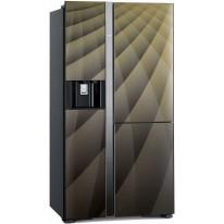 Hitachi R-M700AGPRU4X-DIA side-by-side, třídveřová, No Frost, IceMaker, A++, 4 roky bezplatný servis
