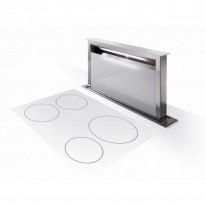 Faber FABULA PLUS EV8 WH A90  - odsavač výsuvný z pracovní desky, nerez / bílé sklo, šířka 90cm