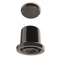 Faber GLOW BK GLOSS KL  - lustrový odsavač, lesklá černá, šířka 65cm