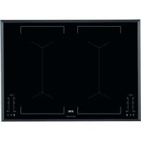 AEG Mastery IKE74451FB indukční varná deska se zkosenou hranou, Hob2Hood, černá, šířka 71 cm