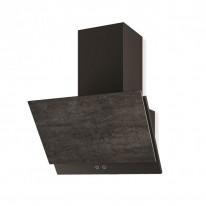 Faber GREXIA GRES DG/BK A60  - komínový odsavač, černá / tmavě šedá kamenina, šířka 60cm