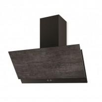 Faber GREXIA GRES DG/BK A90  - komínový odsavač, černá / tmavě šedá kamenina, šířka 90cm