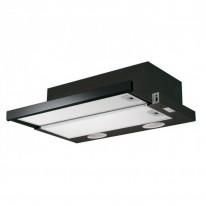 Faber Flexa GLASS BK A60  - výsuvný odsavač, černá / lišta černé sklo, šířka 60cm