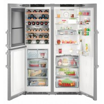 Liebherr SBSes 8486 americká lednice, NoFrost, IceMaker, vinotéka, nerez - 5 let záruka