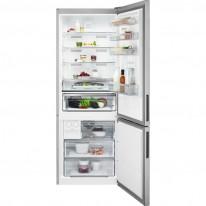 AEG RCB65121TX volně stojící kombinovaná chladnička, NoFrost, nerez,  A++