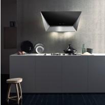 Falmec PRISMA DESIGN Wall - nástěnný odsavač, šířka 85 cm, černé sklo/nerez, 800 m3/h