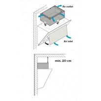 Falmec Carbon.Zeo KACL.941 - filtrační jednotka pro šikmé odsavače v recirkulačním režimu