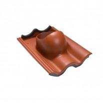 Faber Střešní průchodka pro tašku beton cihlová RAL 8004